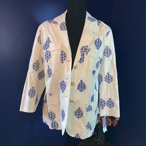 NWT Charter Club embroidered blazer Large